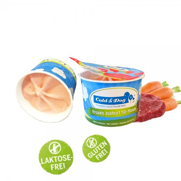 Frozen Joghurt mit Rindfleisch