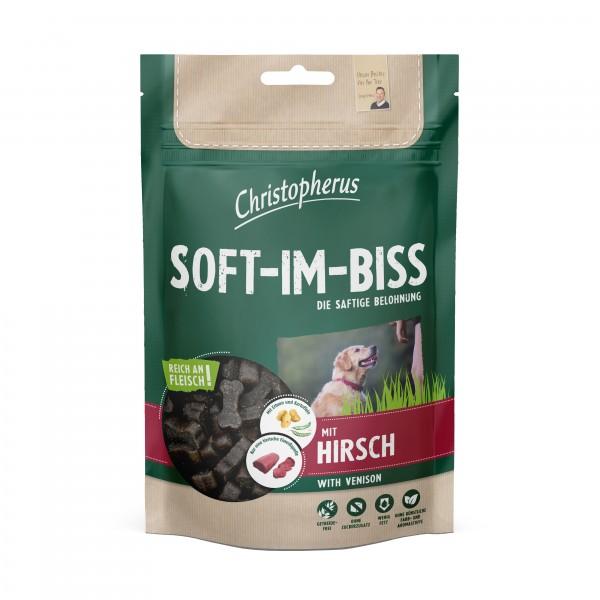 Soft-Im-Biss mit Hirsch