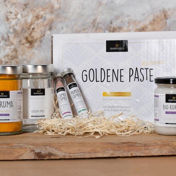 Goldene Paste -Set