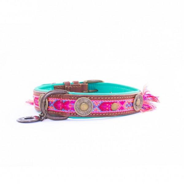 Hundehalsband BOHO ROSA Gr.M - 2,5cm