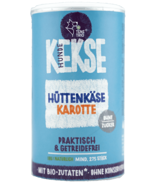 HUNDEKEKSE Hüttenkäse-Karotte